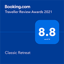Classic Retreat Booking dot com award 2021
